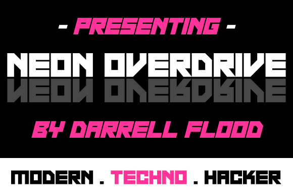Print on Demand: Neon Overdrive Display Font By Dadiomouse