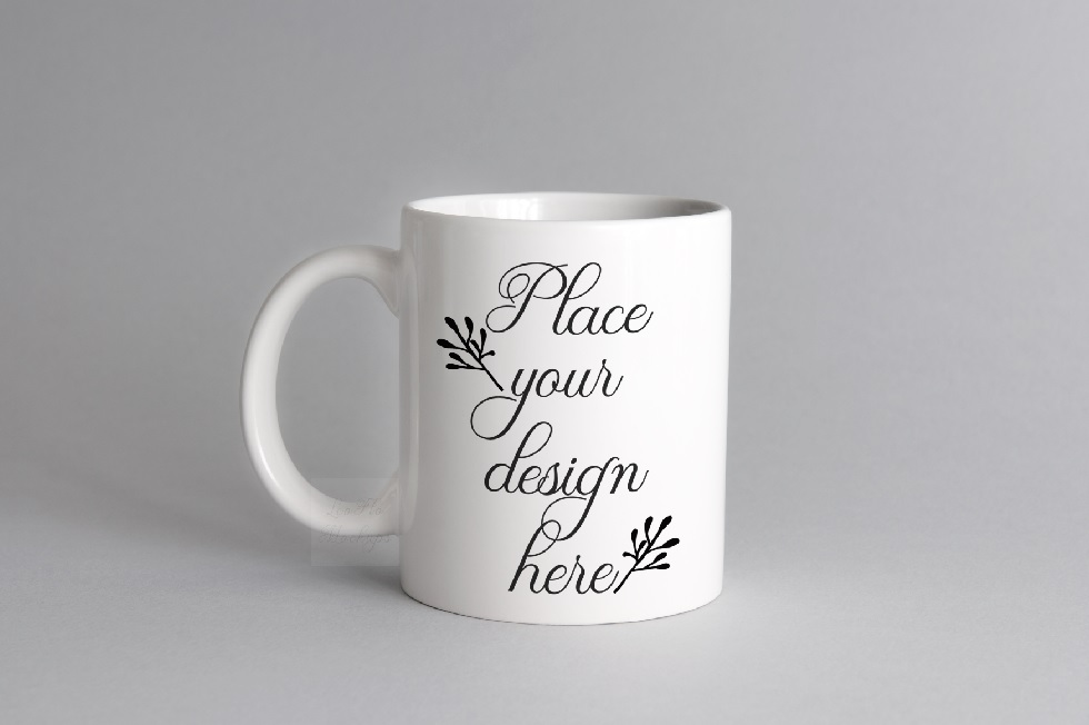 Download Free Neutral White Mug Coffee Cup Mockup Graphic By Leo Flo Mockups for Cricut Explore, Silhouette and other cutting machines.