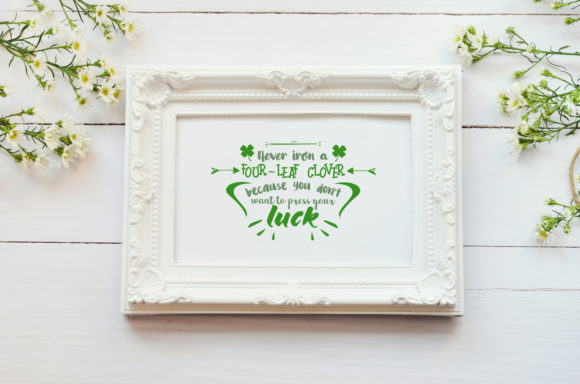 Download Free Never Iron A Four Leaf Clover Graphic By Summerssvg Creative SVG Cut Files
