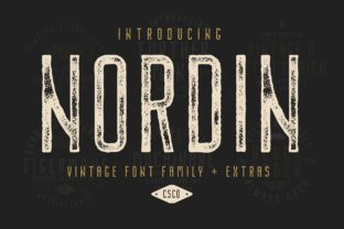 Print on Demand: Nordin Family Display Font By craftsupplyco