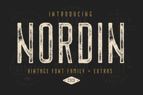Nordin Family Display Font By craftsupplyco