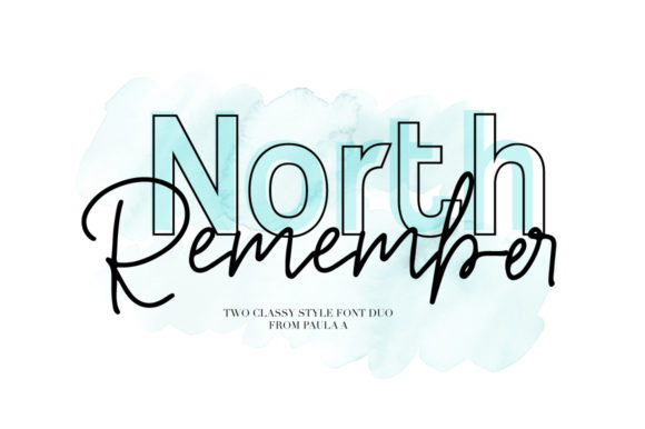 Print on Demand: North Remember Duo Script & Handwritten Font By PaulaType