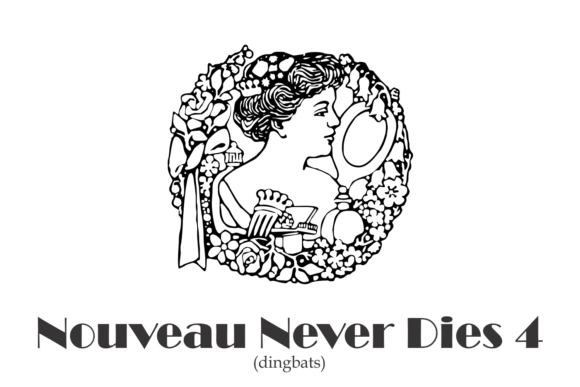 Print on Demand: Nouveau Never Dies Dingbats Font By Intellecta Design