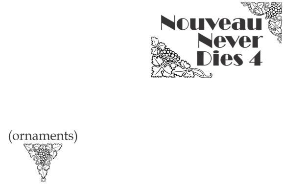 Print on Demand: Nouveau Never Dies Dingbats Font By Intellecta Design - Image 2