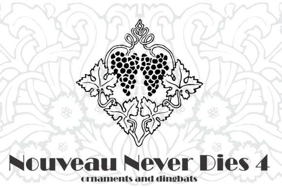 Print on Demand: Nouveau Never Dies Dingbats Font By Intellecta Design - Image 3