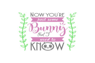 Now You're Just Some Bunny That I Used to Know Svg Graphic By summersSVG
