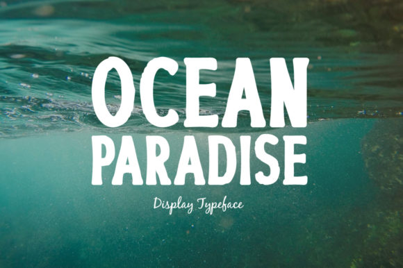 Print on Demand: Ocean Paradise Display Font By Spanking Fonts