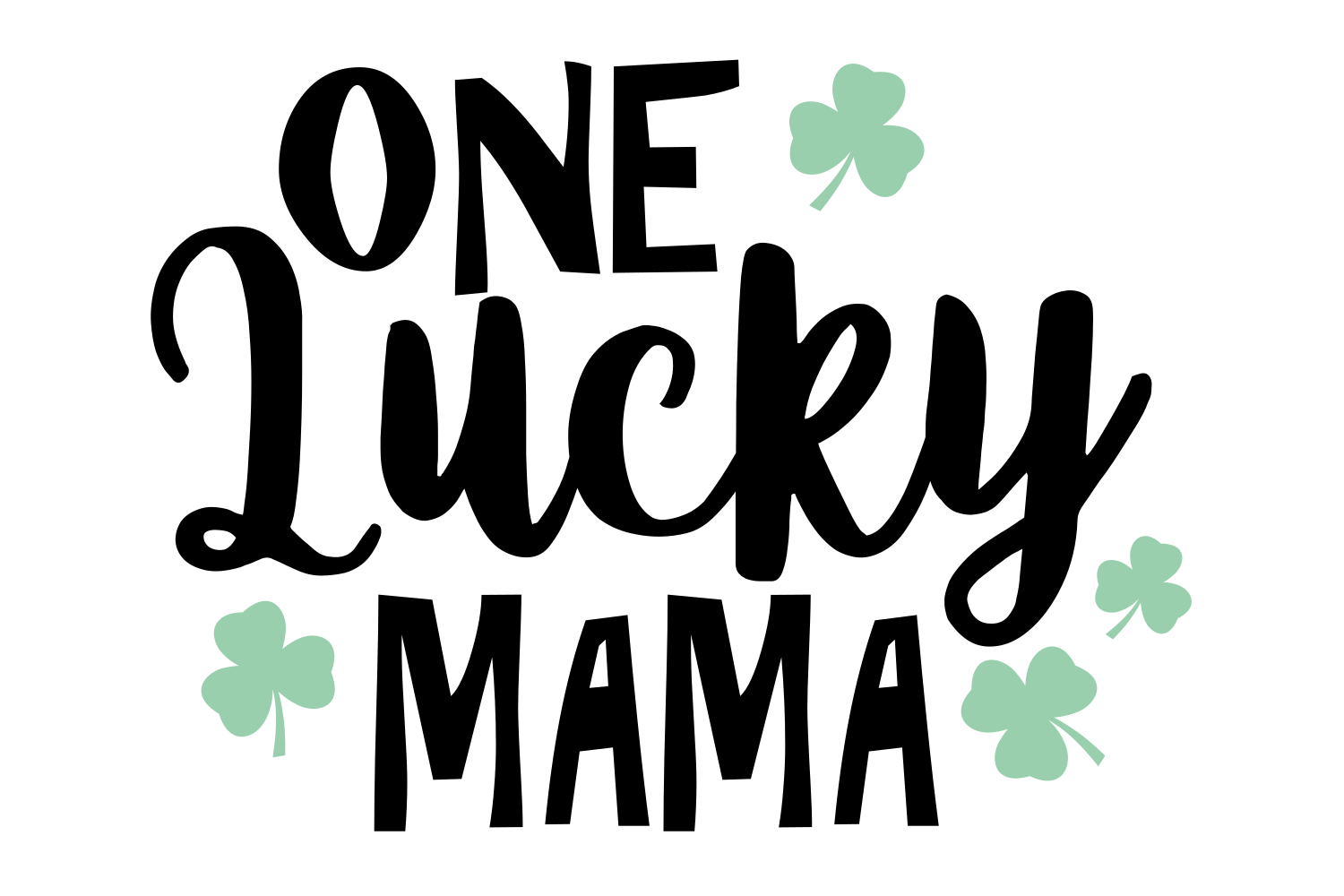 Download Free One Lucky Mama Svg Graphic By Auntie Inappropriate Designs SVG Cut Files