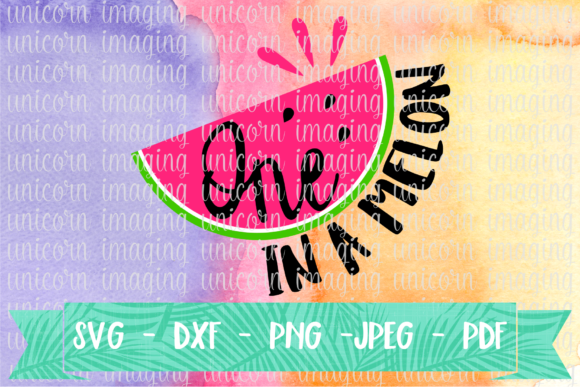 Download Free One In A Melon First Birthday Graphic By Unicorn Imaging for Cricut Explore, Silhouette and other cutting machines.