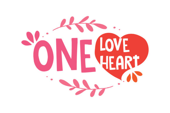 Download Free One Love Heart Quote Svg Cut Graphic By Thelucky Creative Fabrica for Cricut Explore, Silhouette and other cutting machines.