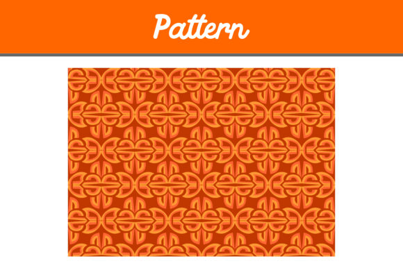 Print on Demand: Orange Background Ornament Pattern Grafik Muster von Arief Sapta Adjie II