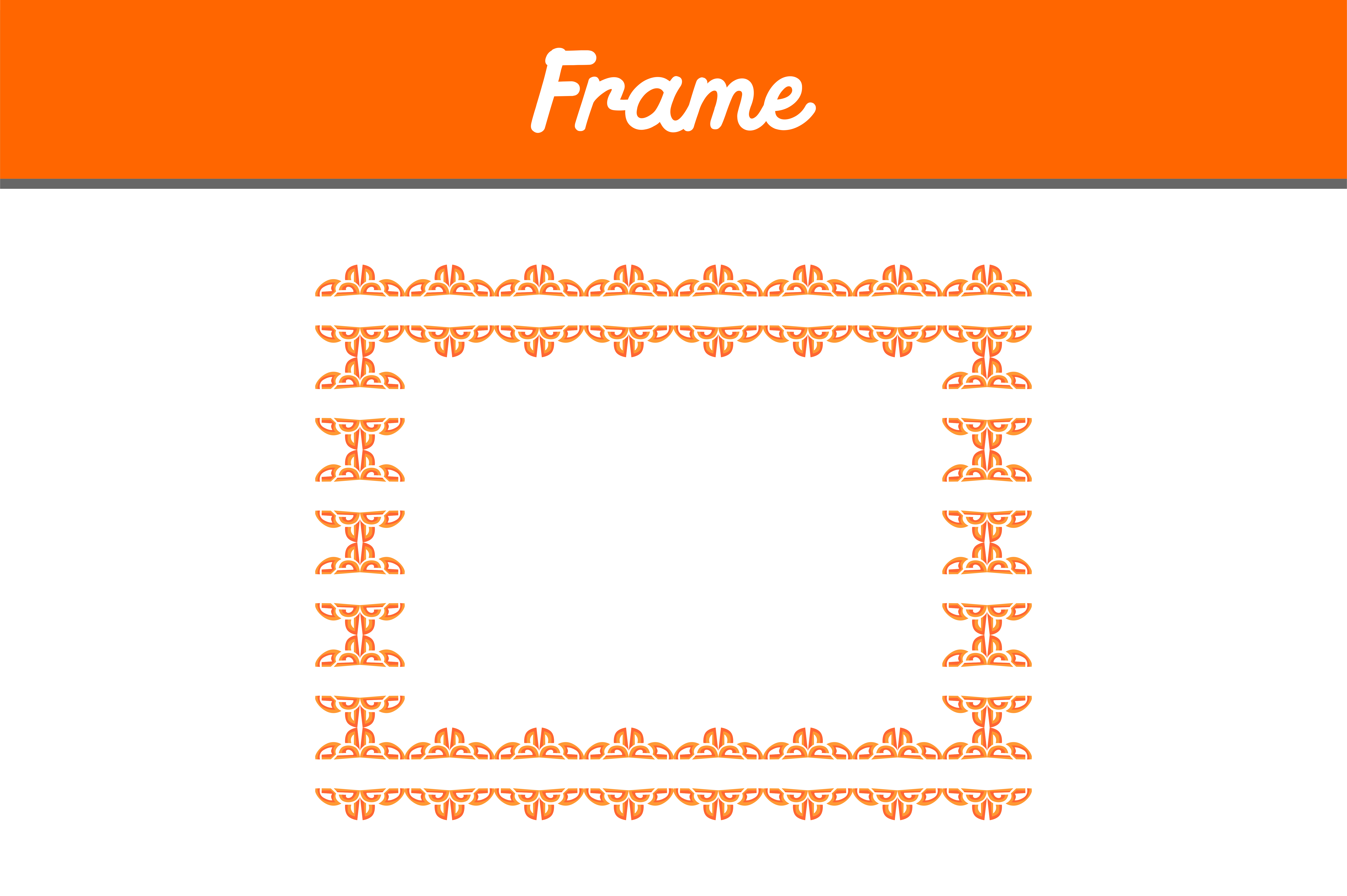 Download Free Orange Border Frame Ornament Graphic By Arief Sapta Adjie Ii for Cricut Explore, Silhouette and other cutting machines.