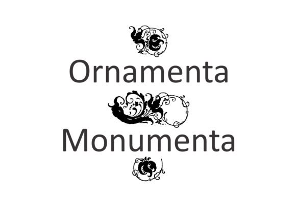 Print on Demand: Ornamenta Monumenta Dingbats Font By Intellecta Design