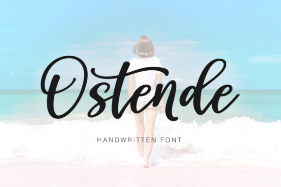 Print on Demand: Ostende Script & Handwritten Font By Pasha Larin