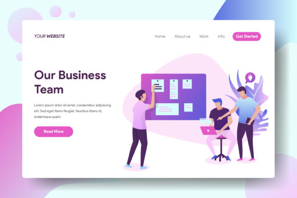 Our Business Team Graphic Landing Page Templates By Twiri