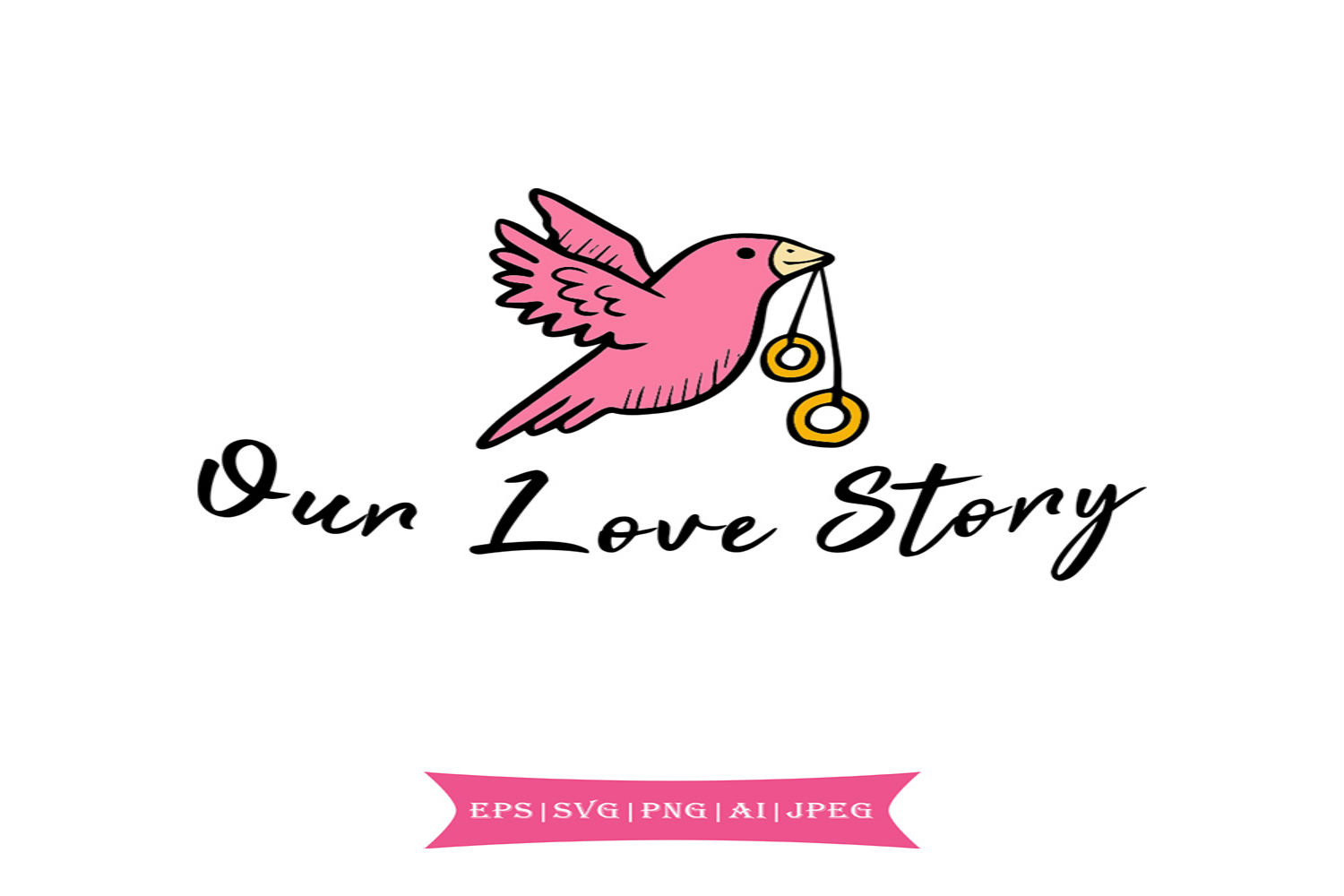 Download Free Our Love Story Valentines Day Svg Graphic By Summerssvg for Cricut Explore, Silhouette and other cutting machines.