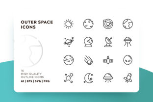 Outer Space Icon Pack Graphic By Goodware.Std