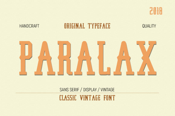 Print on Demand: Paralax Display Font By Gumacreative