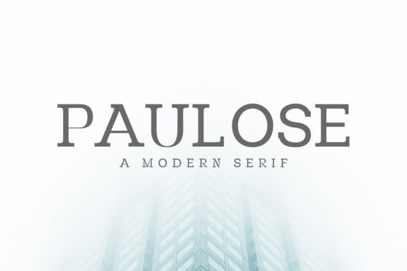 Print on Demand: Paulose Family Serif Font By Creative Tacos - Image 1