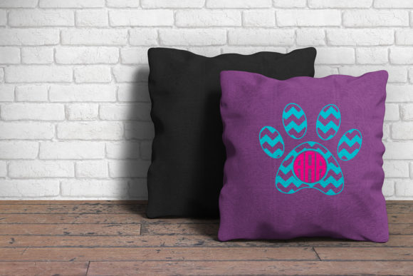 Paw Print Monogram Svg Graphic By Cosmosfineart Creative Fabrica
