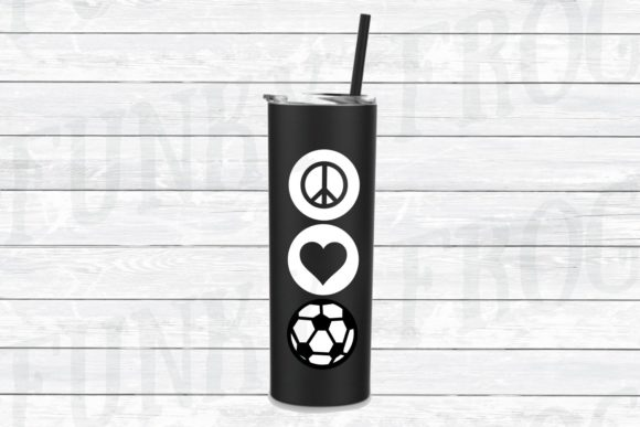 Download Free Peace Love Soccer Svg Graphic By Funkyfrogcreativedesigns for Cricut Explore, Silhouette and other cutting machines.