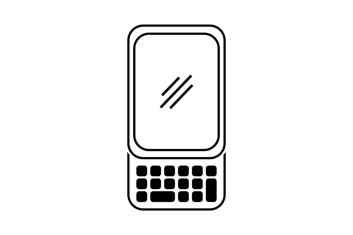 Download Free Phone Monochrome Icon Vector Graphic By Hoeda80 Creative Fabrica for Cricut Explore, Silhouette and other cutting machines.
