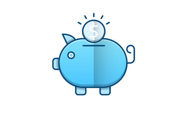 Download Free Piggy Bank Vector Icon Graphic By Back1design1 Creative Fabrica for Cricut Explore, Silhouette and other cutting machines.
