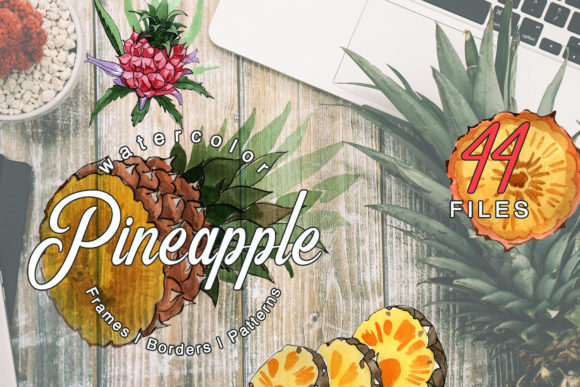Download Free Pineapple Watercolor Graphic By Mystocks Creative Fabrica for Cricut Explore, Silhouette and other cutting machines.