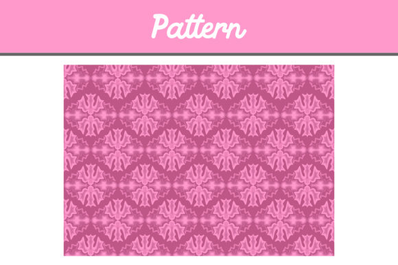 Pink Background Ornament Pattern