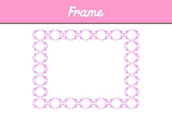 Download Free Pink Border Frame Ornament Graphic By Arief Sapta Adjie Ii for Cricut Explore, Silhouette and other cutting machines.