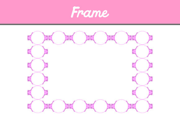 Print on Demand: Pink Border Frame Ornament Graphic Patterns By Arief Sapta Adjie II
