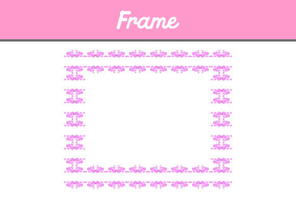 Pink Border Frame Ornament Graphic