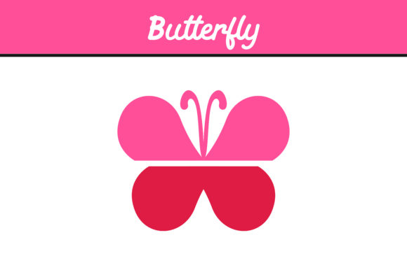 Print on Demand: Pink Butterfly Vector Graphic Icons By Arief Sapta Adjie