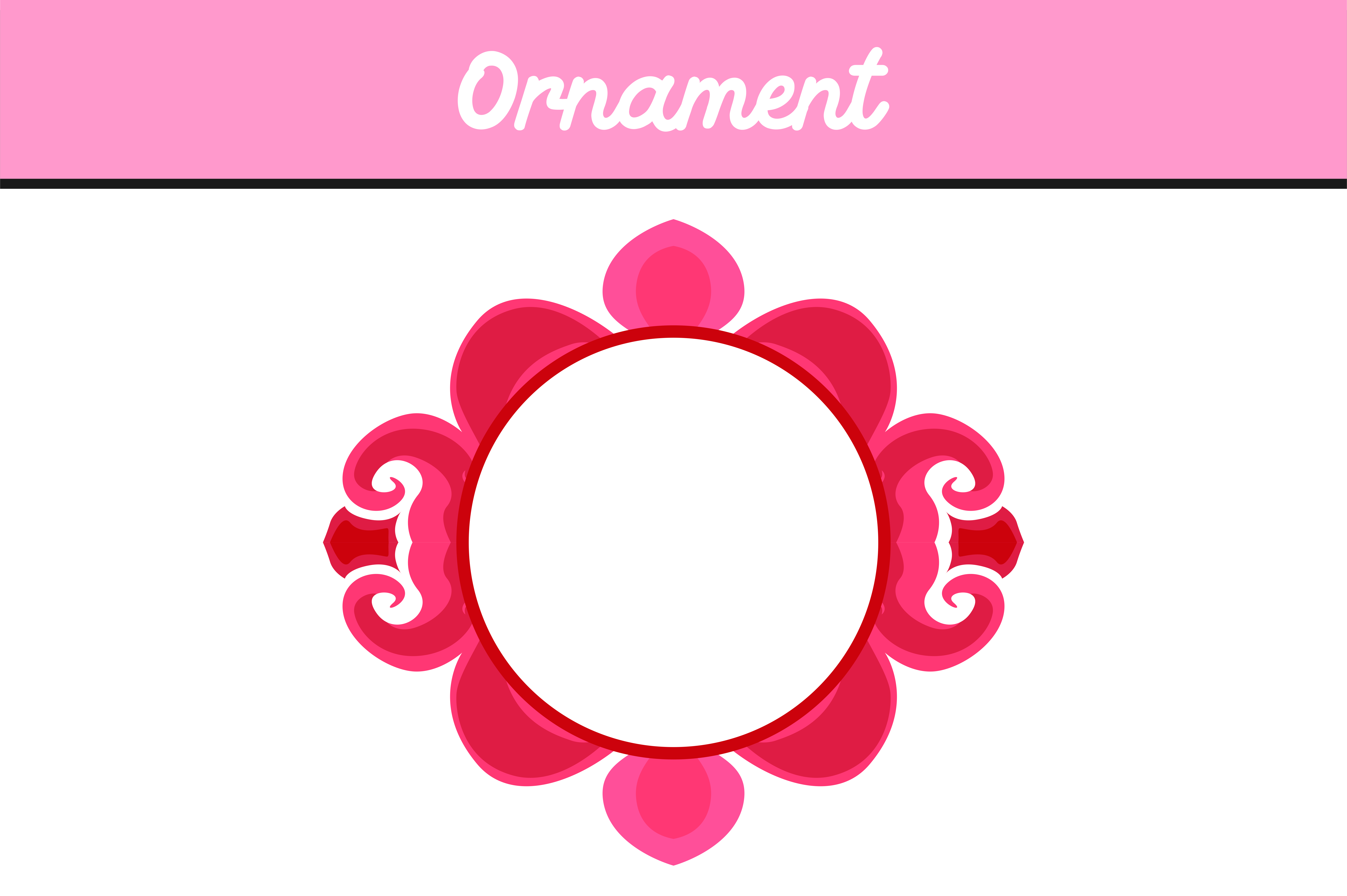 Download Free Pink Circle Frame Ornament Vector Graphic By Arief Sapta Adjie for Cricut Explore, Silhouette and other cutting machines.