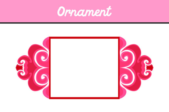 Print on Demand: Pink Frame Ornament Vector Graphic Icons By Arief Sapta Adjie - Image 1