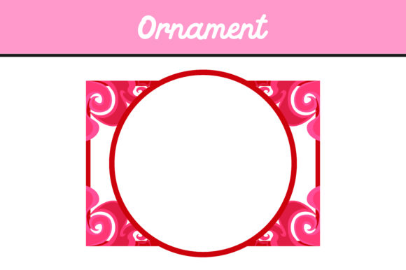 Print on Demand: Pink Frame Ornament Vector Grafik Icons von Arief Sapta Adjie