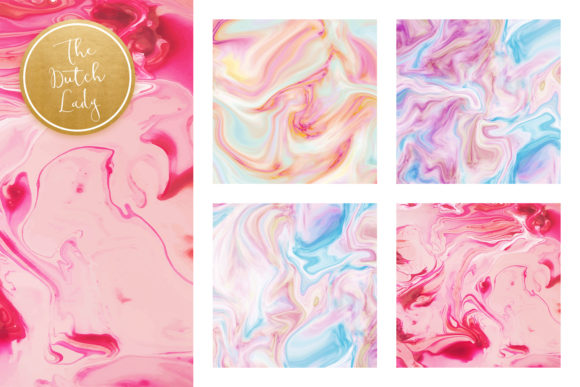 Print on Demand: Pink Marble & Swirl Backgrounds Graphic Backgrounds By daphnepopuliers - Image 2