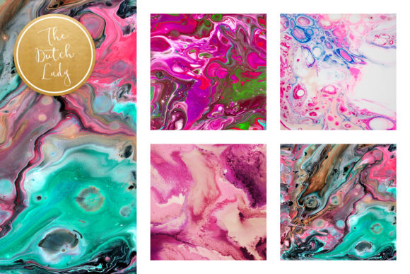 Print on Demand: Pink Marble & Swirl Backgrounds Graphic Backgrounds By daphnepopuliers - Image 3