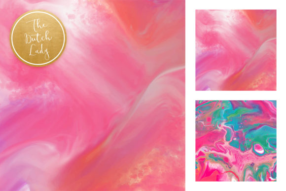 Print on Demand: Pink Marble & Swirl Backgrounds Graphic Backgrounds By daphnepopuliers - Image 4