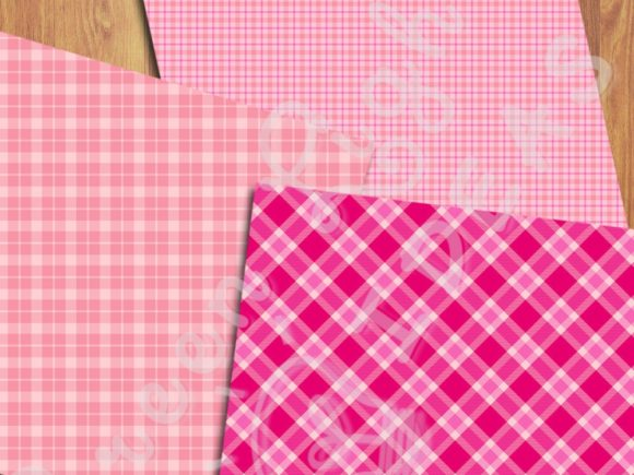 Pink Plaid Backgrounds Graphic Backgrounds By GreenLightIdeas - Image 2