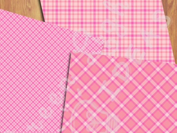 Pink Plaid Backgrounds Graphic Backgrounds By GreenLightIdeas - Image 4