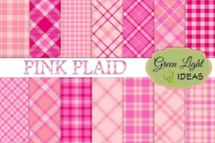 Pink Plaid Backgrounds Graphic By GreenLightIdeas