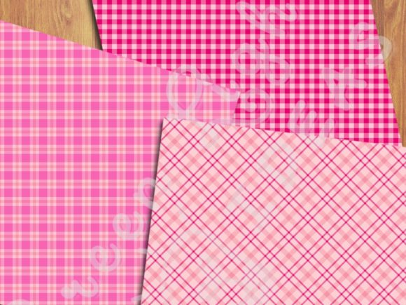 Pink Plaid Backgrounds Graphic Backgrounds By GreenLightIdeas - Image 5