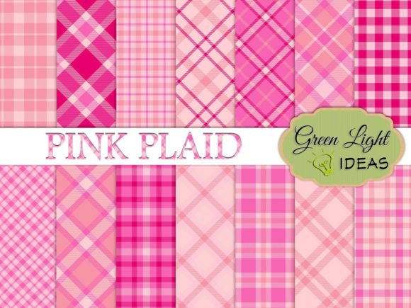 Pink Plaid Backgrounds Gráfico Fondos Por GreenLightIdeas