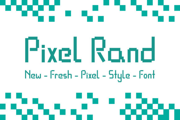 Print on Demand: Pixel Rand Display Font By Dasagani