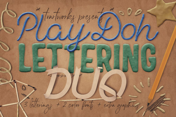 Play-Doh Lettering Duo Graphic Scene Generators By tvartworks