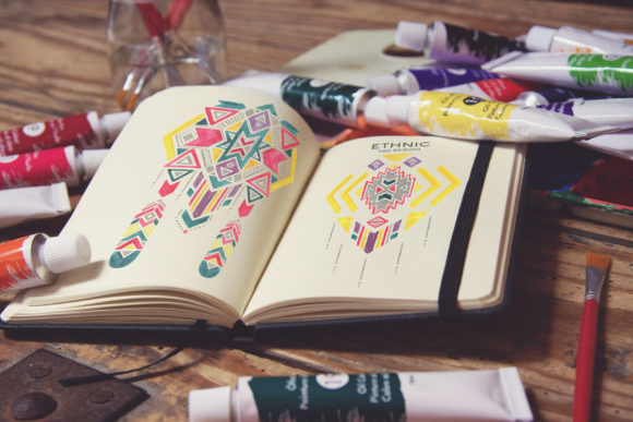 Colorful Pocket Notebook Mockup