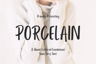 Print on Demand: Porcelain Sans Serif Font By CreatypeStudio