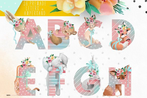 Print on Demand: Pretty Letters Graphic Illustrations By Anna Babich - Image 2