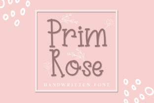Prim Rose Font By dmletter31